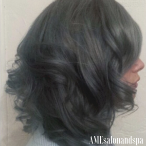 "Slate Hair Color and ""Lob"" By Future Designer, Emily"