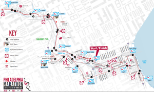 Philadelphia Marathon Map philadelphia marathon course map   AME Salon and SpaAME Salon and Spa